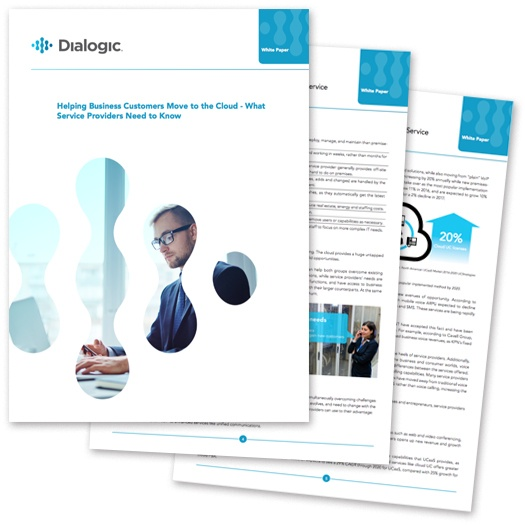 Whitepaper: Helping Business Customers Move to the Cloud - What Service Providers Need to Know