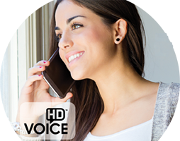 Woman on phone, IPX and HD Voice